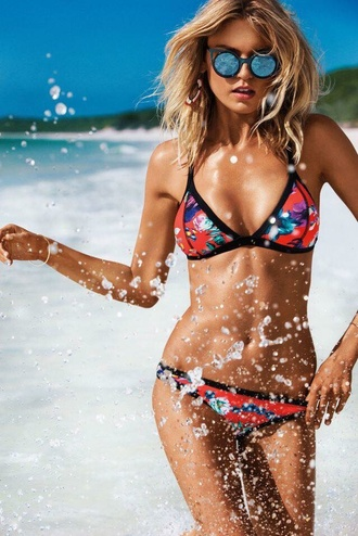 swimwear red bikini summer bikini