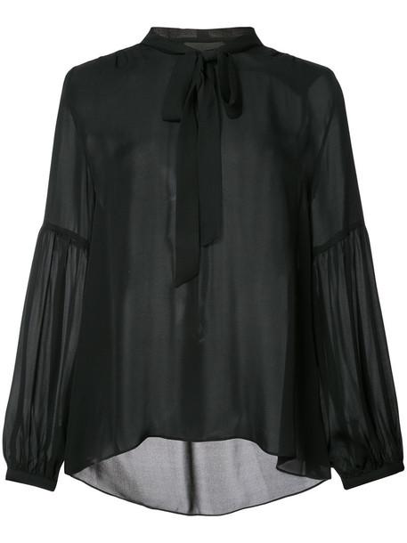 Nili Lotan blouse women black silk top
