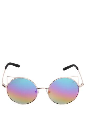 metal cat ears sunglasses gold