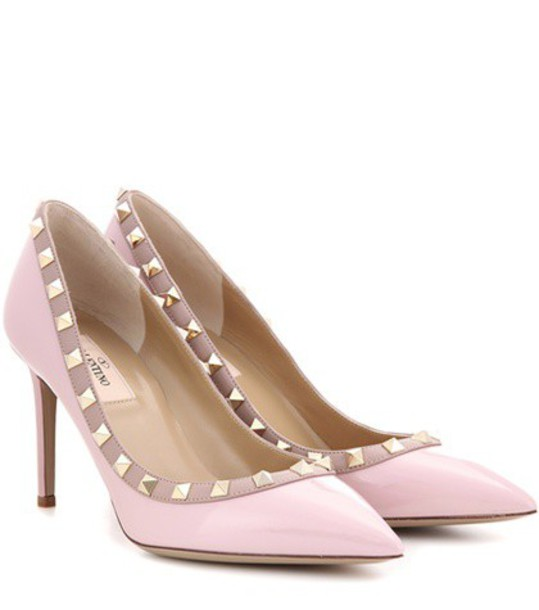 Valentino pumps leather pink shoes