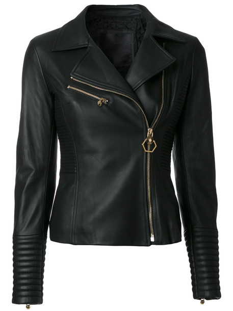jacket biker jacket women cotton black