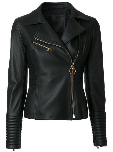 PHILIPP PLEIN jacket biker jacket women cotton black