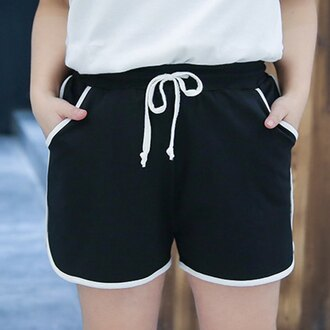 shorts black sportswear comfy summer sporty fashion rosewholesale.com