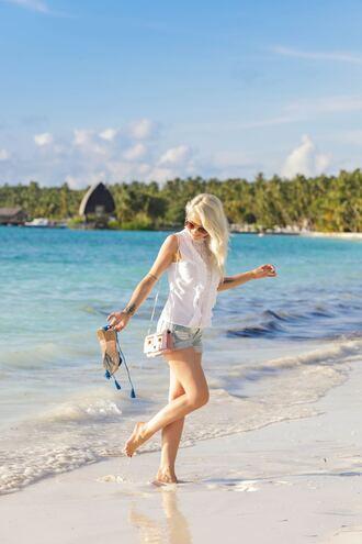 top sunglasses tumblr white top lace top shorts denim denim shorts sandals espadrilles shoes