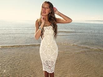 dress white dress white crochet white crochet dress lace dress summer dress sexy dress
