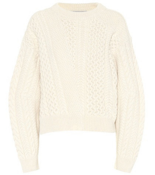 Stella McCartney Cable-knit sweater in white