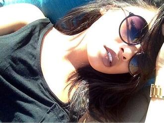 sunglasses jewels hippie ombre glasses round