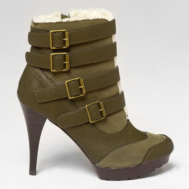 Qupid MANAGE-13 Brody Shearling Boot in Olive – FLYJANE