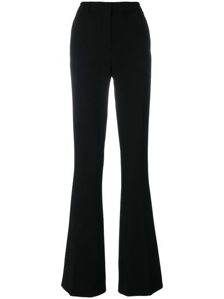 VIONNET pleated women spandex black silk pants