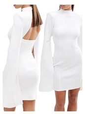 dress,i want this in red color,white,white dress,cape dress,long sleeves,long sleeve dress,bodycon,bodycon dress,party dress,sexy party dresses,sexy,sexy dress,party outfits,sexy outfit,summer dress,summer outfits,spring dress,spring outfits,fall dress,fall outfits,winter dress,winter outfits,classy dress,elegant dress,cocktail dress,cute dress,girly dress,date outfit,birthday dress,clubwear,club dress,homecoming,homecoming dress,wedding dress,wedding clothes,wedding guest,engagement party dress,romantic dress,romantic summer dress,high neck,high neck dress,turtleneck,turtleneck dress