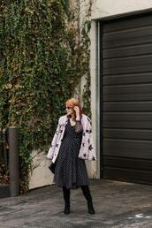themiddlepage,blogger,dress,coat,shoes,bag