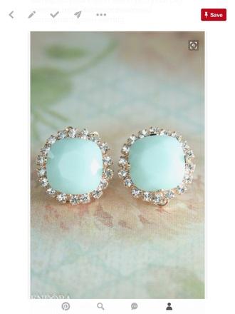 mint earrings clip on earrings jewels