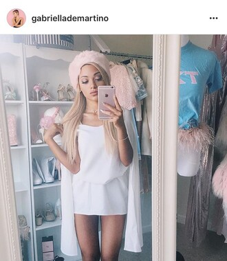 dress gabriella demartino white skirt gabi demartino white white dress white top
