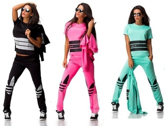 pants sweater jumpsuit outfit jacket t-shirt top winter outfits tracksuit adidas stars leggings 3 stripes short sleeve shirt band t-shirt 3 piece suit