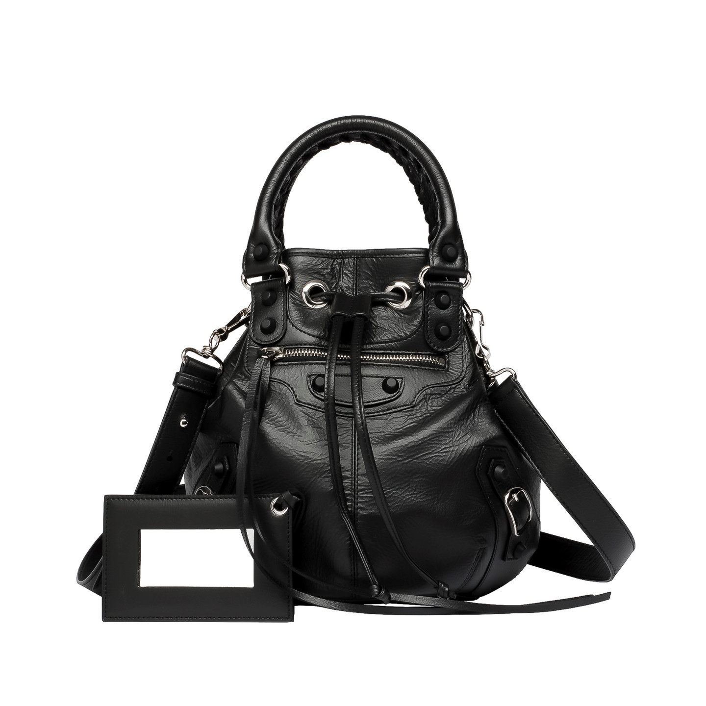 Balenciaga classic mini pompon holiday black