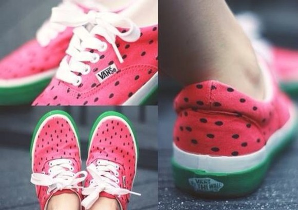 shoes vans watermelon print sneakers