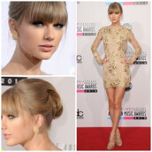 dress,gold dress,celebrity,sequin dress,taylor swift