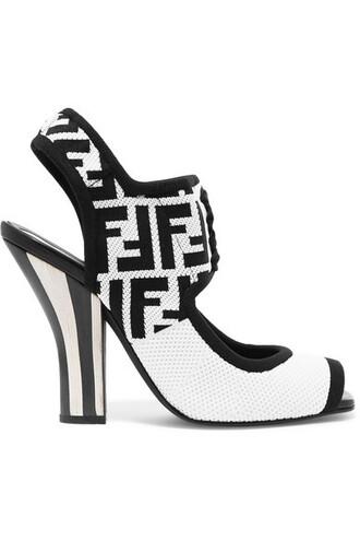 mesh jacquard sandals white shoes