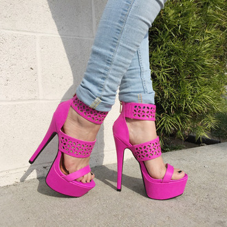 shoes http://www.cicihot.com/shoes-heels-jpo-enchanted-magenta.html?color=magenta cicihot magenta pink shoe high heels shoegame shoegasm girly chic sexy fashion boho