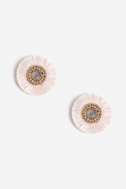 Topshop earrings stud earrings pink jewels