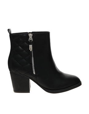 River Island | River Island Immy Quilted Heeled Ankle Boots at ASOS
