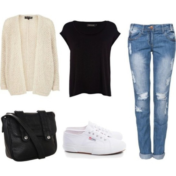 cardigan cream winter outfits fall outfits jeans shoes