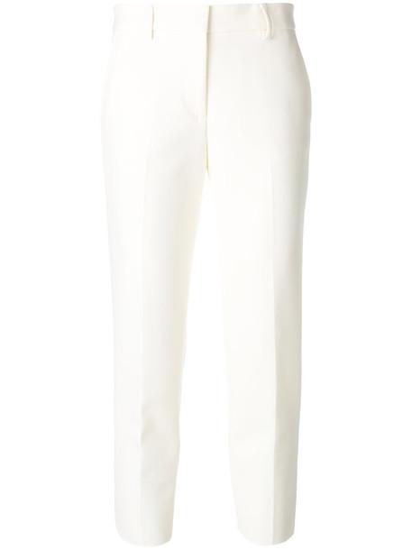 MSGM cropped women spandex white pants