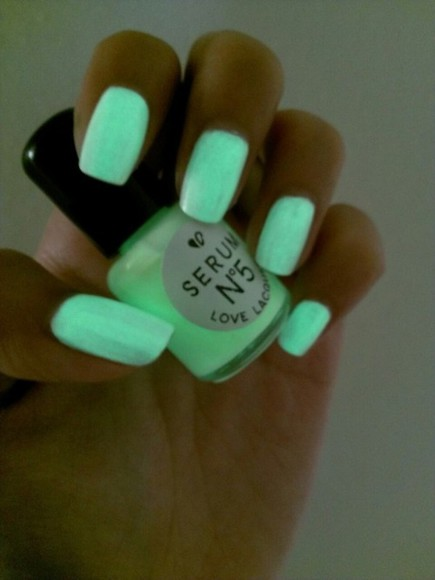 nail polish neon blue green sea nails nailpolish