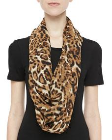 Karen Zambos Leopard-Print Infinity Scarf - Neiman Marcus