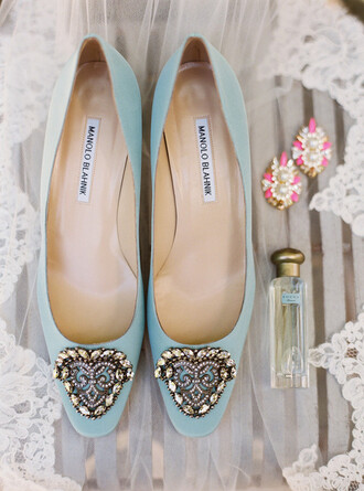 100 layer cake blogger flats wedding shoes blue shoes loafers manolo blahnik light blue blue wedding accessory wedding accessories