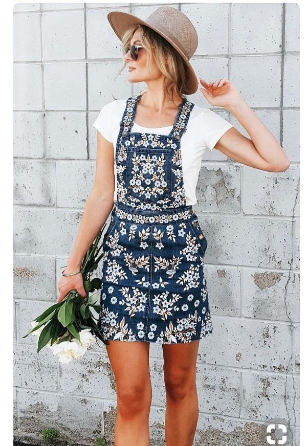 dress embroidered overalls denim floral embroidered overall dress embriodered jean dress dungarees denim overalls denim dungarees skirt floral denim blue jeans denim dress lace floral dress