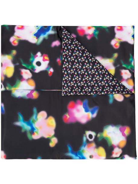 cape women print black top