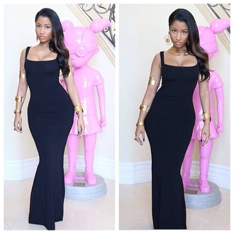 dress nicki minaj black maxi dress jewels
