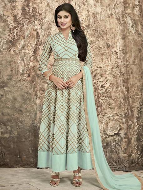 dress anarkali suit mouni roy ethnic wear indian clothing women clothing designer suit partywear suit wedding wear bridal wear
