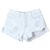 ROMWE | Ripped High Waist White Shorts, The Latest Street Fashion
