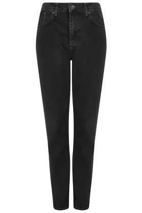 MOTO Black Wash Mom Jeans - Topshop