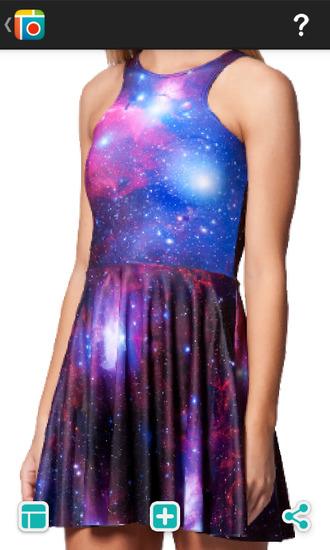 galaxy dress dress
