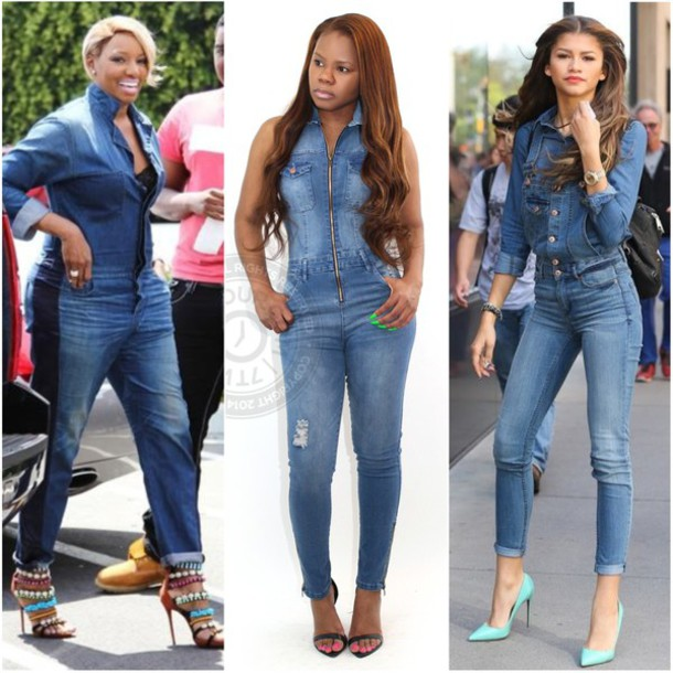 Jumpsuit: jeans, denim, zendaya, 7twentyfour - Wheretoget