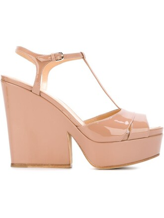 heel chunky heel sandals nude shoes
