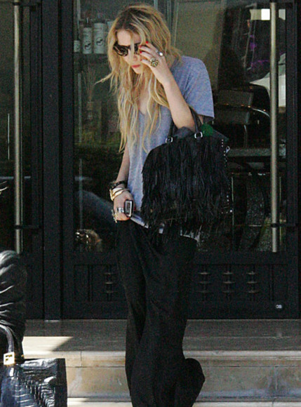 t-shirt grey oversized mary kate olsen