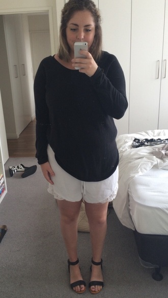 shorts white flowered shorts flowy shorts