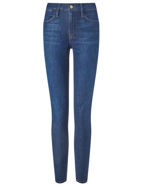 Frame Denim jeans skinny jeans high blue