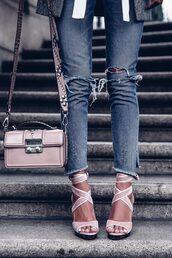shoes,tumblr,sandals,sandal heels,platform sandals,high heel sandals,velvet,velvet sandals,velvet shoes,pink sandals,denim,jeans,blue jeans,ripped jeans,bag,pink bag