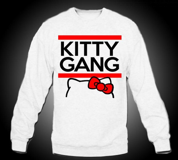sweater kittygang crewneck crewneck sweater hello kitty cute cute sweaters iwantthissobad hello kitty white sweater