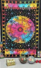 home accessory,horoscope,astrology,tapestry,tie dye,multi tie dye,multicolor,tie dye tapestry,wall hanging,wall tapestry,cool college tapestry,dorm tapestry,dorm room,dorm room wall tapestry,indian tapestry,indian wall hanging,jaipur handloom tapestry,astrology blanket,horoscope blanket,horoscope sofa throw,table cloth,table runner,beach throw,beach blanket,beach towel,picnic blanket,yoga mat,twin dorm room bedding,twin bedspread