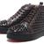 Christian Louboutin Black Studded Dark Brown Hi-Top Sneakers :