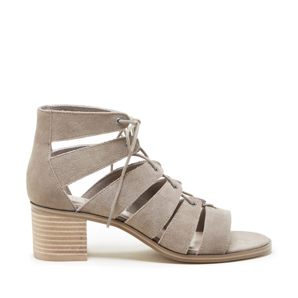 Sole Society Leigh Cage Lace-Up Sandal - Taupe-5