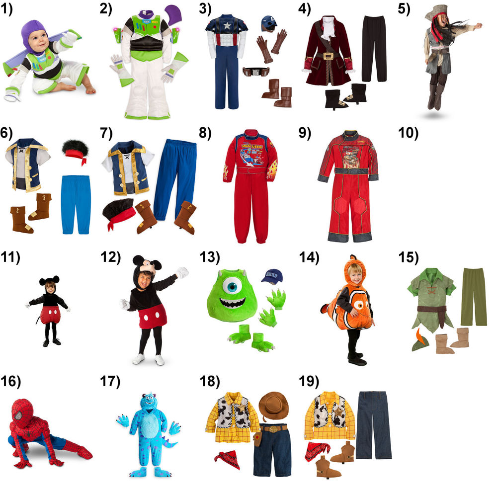 Disney Store Halloween Costumes Infant/Toddler/Youth Boy Sizes NWT Free Shipping