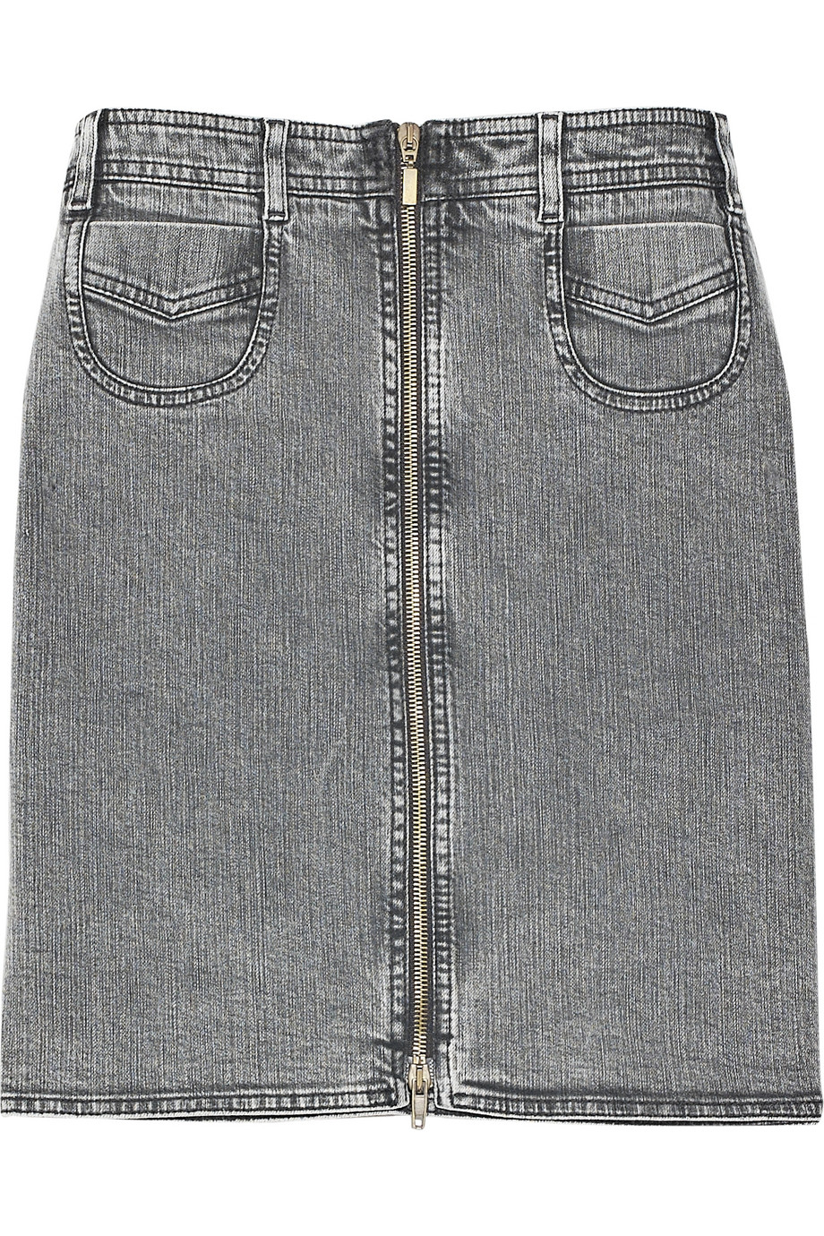 Discount See by Chloé Zipped denim skirt|THE OUTNET