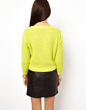 Glamorous   Glamorous Rib Knit Sweater at ASOS
